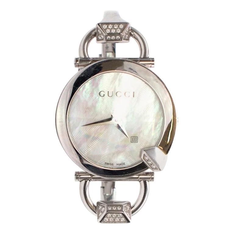 Gucci Horsebit Diamond Watch For Sale