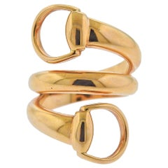 Gucci Horsebit Gold Wrap Ring