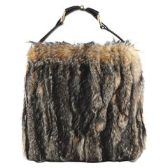 Gucci Horsebit Hobo Fur Large