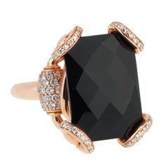 5226f1672 Gucci Horsebit Onyx Diamond Rose Gold Ring. HomeJewelry & WatchesRingsSignet  Rings. Gucci Icon Boule Onyx & Diamond 18k Yellow Gold Ring Size 58 ...