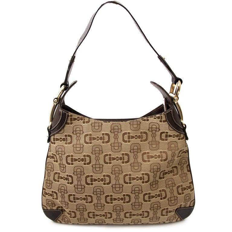 Gucci Horsebit Print Bag In Good Condition In Antwerp, BE