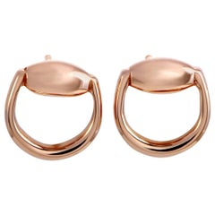 Gucci Horsebit Rose Gold Stud Earrings