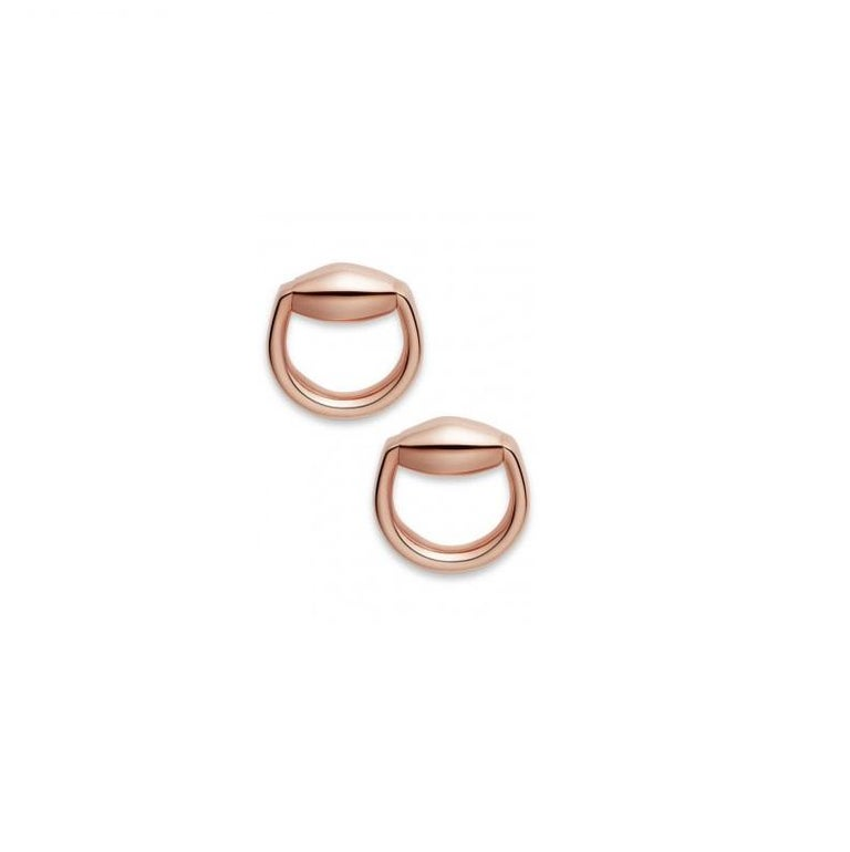 b24a305ef Gucci Horsebit Stud Earrings in Rose Gold In New Condition For Sale In  Wilmington, DE