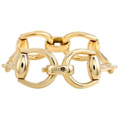 Gucci Horsebit Yellow Gold Bracelet