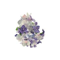 Gucci Hortensia Blue Flower Silk Brooch Pin Never Worn