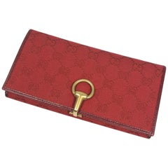 GUCCI Hose Bits Womens long wallet 101602 red
