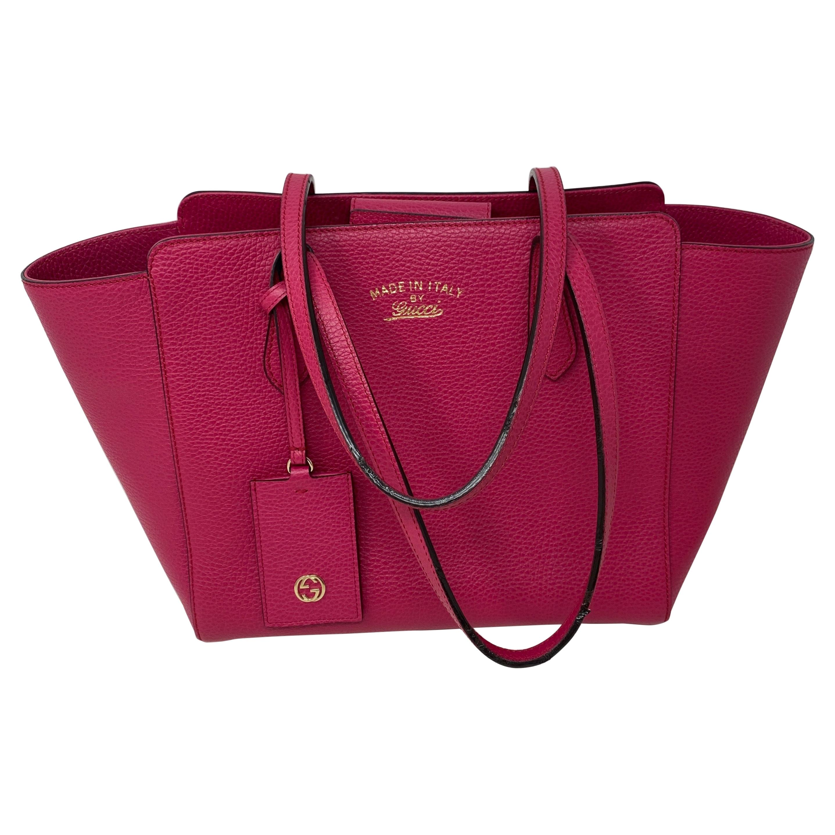 Gucci Hot Pink Leather Bag