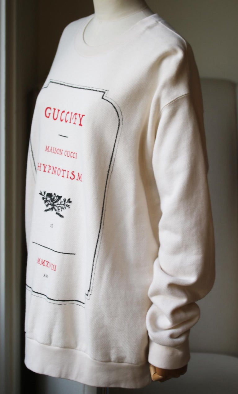 Gucci Hypnotism Graphic Cotton-Jersey Sweatshirt In Excellent Condition For Sale In London, GB