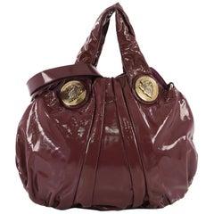 Gucci Hysteria Convertible Top Handle Bag Patent Small