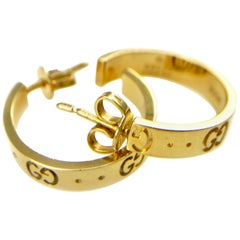 Gucci Icon 18 Karat Gold Small Hoops Earrings