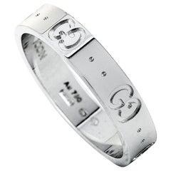 Gucci Icon 18 Karat White Gold Thin Band Ring