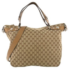 Gucci Icon Bit Top Handle Bag GG Canvas Large