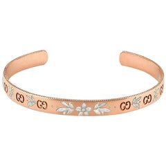 Gucci Icon Blossom Rose Gold Cuff Bangle YBA434528002017
