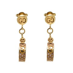 Gucci Icon Stardust Pink Sapphires 18k Rose Gold Dangle Earrings