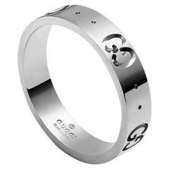 c3c34d2dbd4cf9 Gucci Icon Thin Band YBC073230002. Diamond Gold Band Ring. Diamond Gold  Band Ring. Gucci 18 Karat White ...