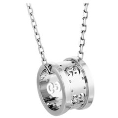 Gucci Icon Twirl 18 Karat White Gold Pendant Necklace