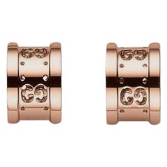 Gucci Icon Twirl Earrings in 18 Karat Rose Gold, YBD223729001
