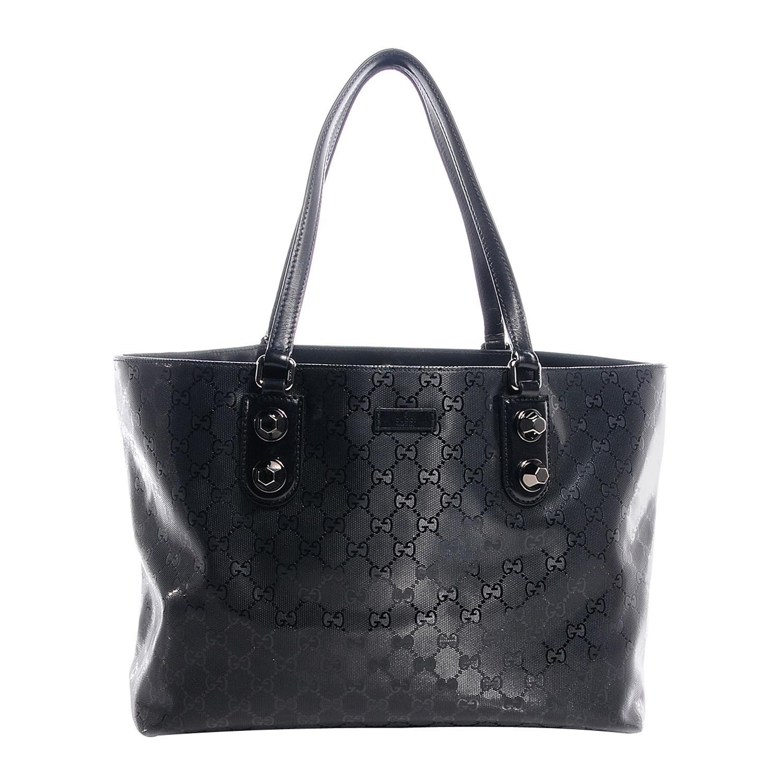 Gucci Imprime Monogram Black Medium Studded Tote