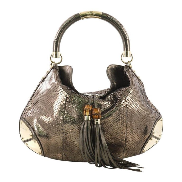 ca646ca646fa Gucci Indy Hobo Python Large For Sale at 1stdibs