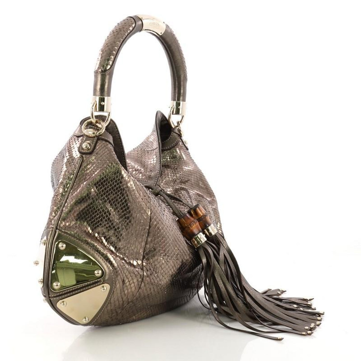 f6d21cb5887 Gucci Indy Hobo Python Medium at 1stdibs