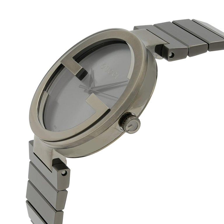 8e160d859d2 ... Steel Anthracite Dial Quartz Men s Watch YA133210 For Sale. (28685)  This New Without Tags Gucci Interlocking G YA133210 is a beautiful men s  timepiece