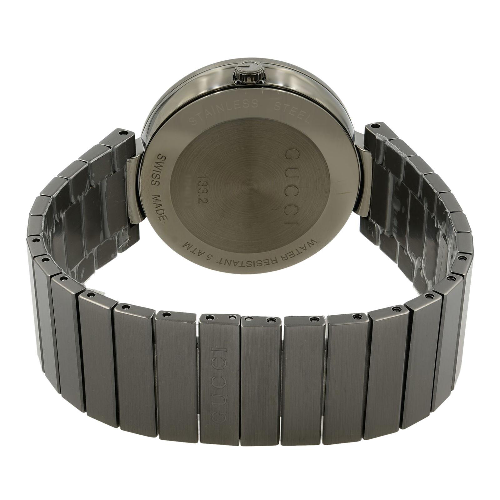 56fe3383485 Gucci Interlocking G Grey PVD Steel Anthracite Dial Quartz Men s Watch  YA133210 For Sale at 1stdibs