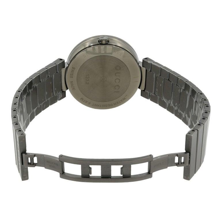 fa10ad2f1a7 Gucci Interlocking G Grey PVD Steel Anthracite Dial Quartz Men s Watch  YA133210 For Sale 1