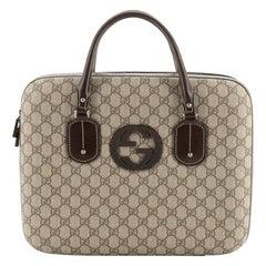 Gucci Interlocking G Laptop Bag GG Coated Canvas