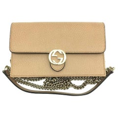Gucci Interlocking GG Wallet on Chain Crossbody Bag