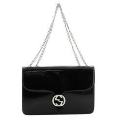 Gucci Interlocking Shoulder Bag Patent Medium