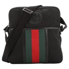 Gucci Interlocking Web Messenger Bag Canvas Medium