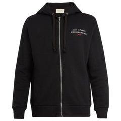 Gucci Invite-Print Cotton-Jersey Hooded Sweatshirt