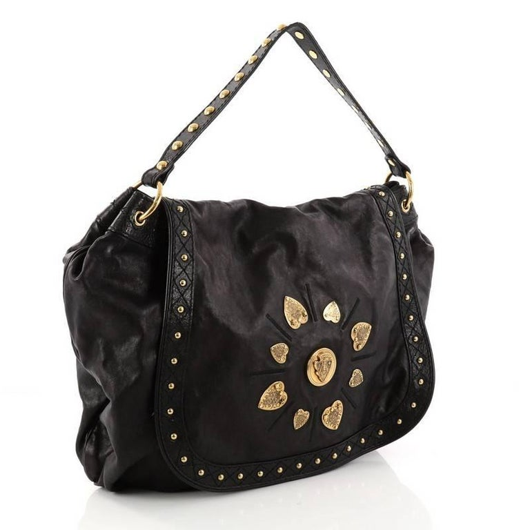 7b61ba81e064 Black Gucci Irina Babouska Shoulder Bag Leather For Sale