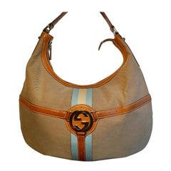 Gucci Jackie Equestrian Look Canvas Shoulder Bag GG Monogram
