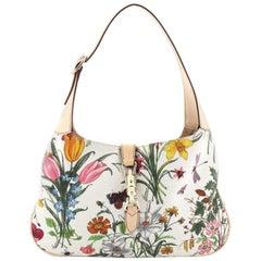 Gucci Jackie O Bag Flora Canvas Small