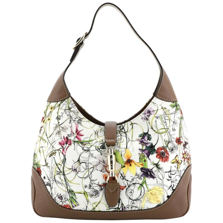 Gucci Jackie O Bag Flora Canvas Small For Sale