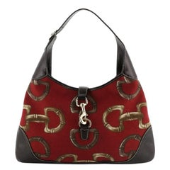 Gucci Jackie O Bouvier Hobo Printed Canvas Medium