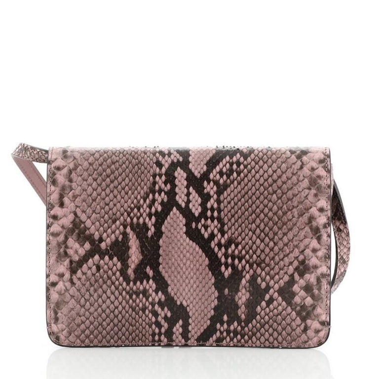 Gucci Jackie Soft Convertible Clutch Python Mini In Good Condition For Sale In New York, NY