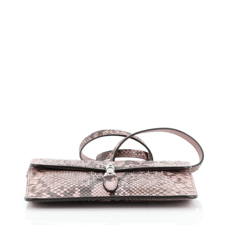 Women's or Men's Gucci Jackie Soft Convertible Clutch Python Mini For Sale