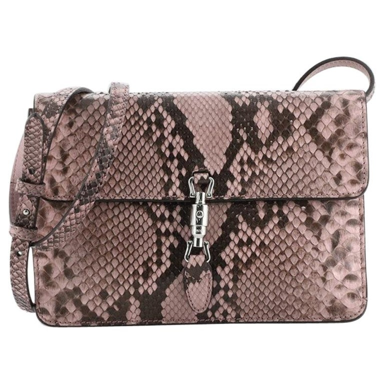 Gucci Jackie Soft Convertible Clutch Python Mini For Sale