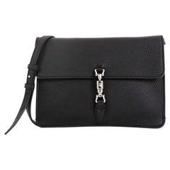 Gucci Jackie Soft Flap Shoulder Bag Leather