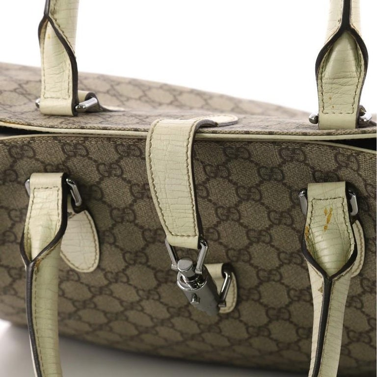 61f62f3cb6a4 Gucci Jackie Soft Tote GG Coated Canvas Large For Sale 2