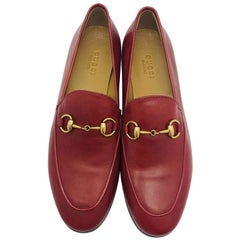 Gucci Jordaan leather loafer - Red size 35.5 - New