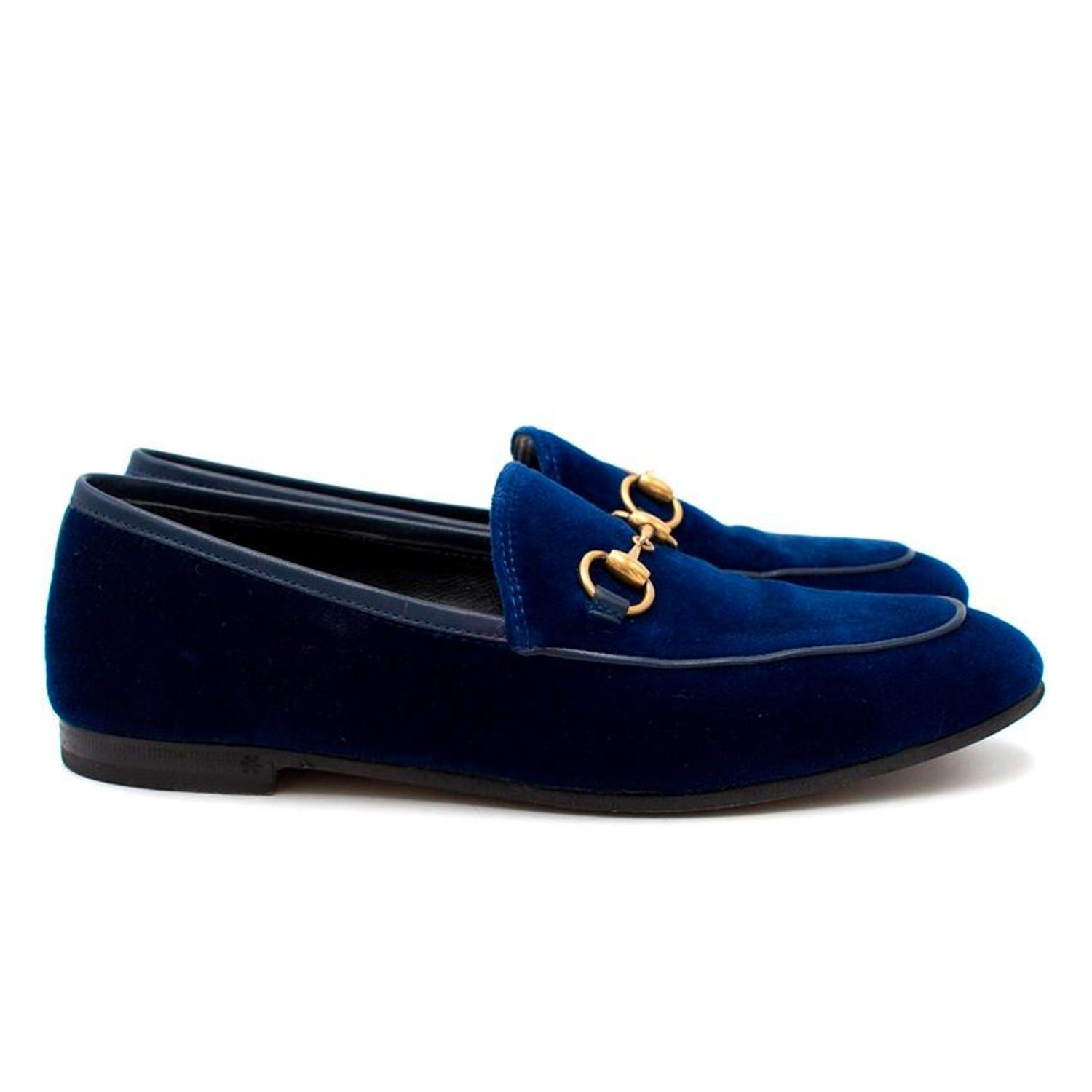 698ab3ae07b Gucci Jordaan Velvet Loafers US 5.5 For Sale at 1stdibs