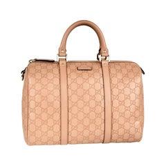 Gucci Joy Boston Satchel Guccissima  Leather Medium Rose/Pink Beige,Like New