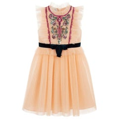 Gucci Kids Embroidered Tulle Dress