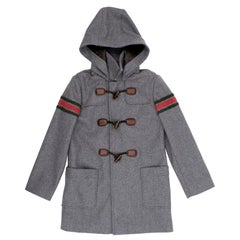 Gucci Kids Grey Duffle Coat - 8 Years