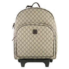 Gucci Kid's Trolley Backpack GG Coated Canvas