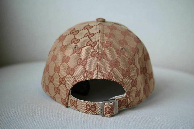 dc43bb0298c Brown Gucci LA Angels GG Supreme Baseball Hat For Sale