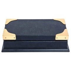 Gucci Lacquered Wood and Brass Hinged Box Vintage